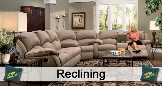 We carry everything reclining from recliners reclining sofas love seats and reclining sectionals. Fabric or leather you choose. Build your own sectional ... & Reclining : Pugh Furniture islam-shia.org