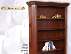Amish Furniture : Fifth Avenue Collection Bookcase