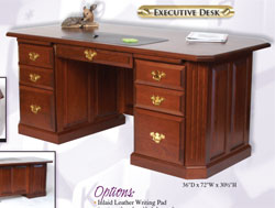 Amish Furniture : Fifth Avenue Collection Executive Desk
