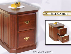 Amish Furniture : Fifth Avenue Collection File Cabinet