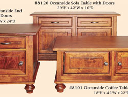 Amish Furniture : Oceanside Occasional Tables with Doors