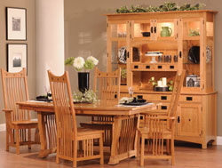 Amish Furniture : Amish Classic Mission Dining Collection