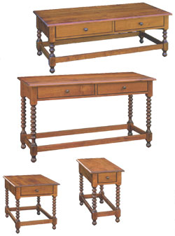 Amish Furniture : Chester Occasional Tables Collection by Hill Finishing