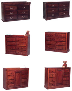 Amish Furniture : Classic Convertible Amish Changing Tables & Dressers