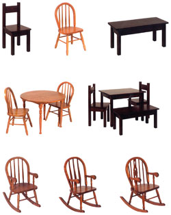 Amish Furniture : Kids Amish Tables & Chairs