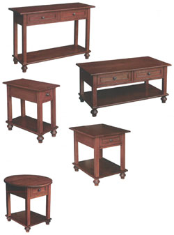 Amish Furniture : Oceanside II Occasional Tables Collection by Hill Finishing