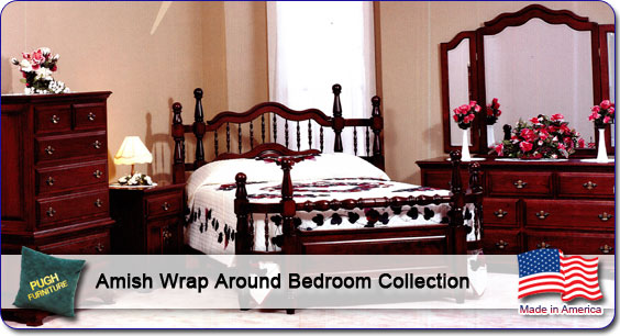 Amish Wrap Around Bedroom Collection